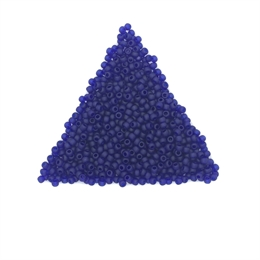 Seed beads, TOHO, 11/0, transparent frosted cobalt blue, 7,5 gram. (TR-11-8DF)