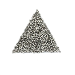 Seed beads, TOHO, 11/0, opaque nickel, 7,5 gram. (TR-11-711)