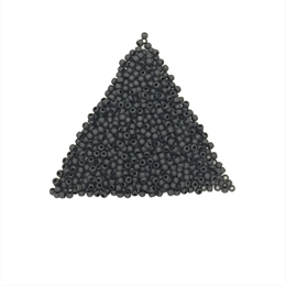 Seed beads, TOHO, 11/0, opaque frosted jet, 7,5 gram. (TR-11-49F)