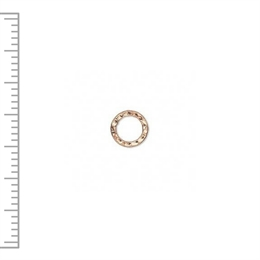 Mellemled, hamret ring, 12mm, CP, 2 stk.