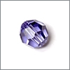 Swarovski, rund, facet, 8mm, lilla tanzanite 2 stk.