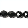 Sort onyx, 16mm, rund facet, streng