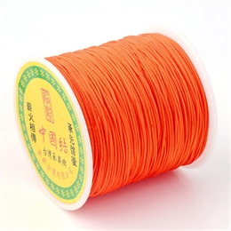 Knyttesnøre, orange, 0,5mm, nylon, 2 meter