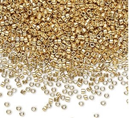 Seed beads, Delica 11/0, Duracoat galvaniseret guld