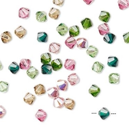Swarovski, bicone, 4mm, tourmaline mix, 48 stk.