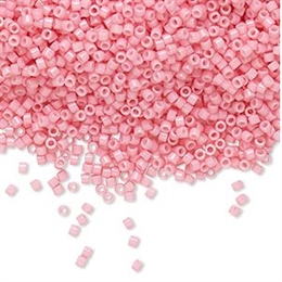 Seed beads, Delica 11/0, duracoat opaque powder pink, 7,5 gram. DB2116V